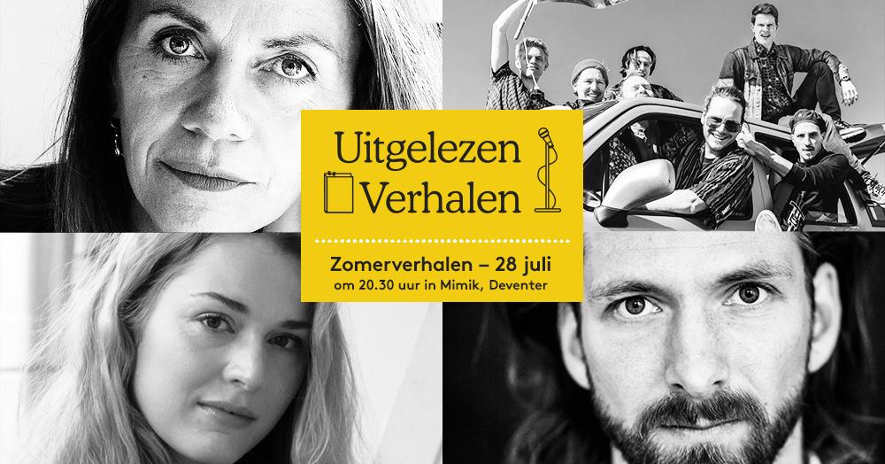 28 juli: Zomerverhalen met Marlies Heuer, Vincent van der Valk en Johanna Hagen